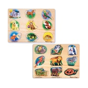 "Melissa & Doug Animals Sound Puzzle Bundle 11.8"" x 8.5"" x 1.8"" (722)"