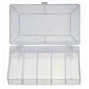 HVTools – Boîte pour composants électroniques, compartiments internes carrés, 7 x 4 x 1 po, transparent