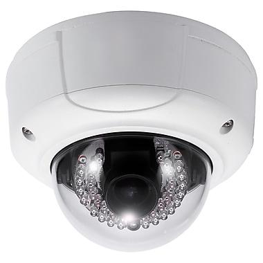 SeqCam – Caméra dôme IR réseau anti-vandalisme pleine HD 3 mégapixels, 4,7 po x 6,3 po x 6,3 po, blanc