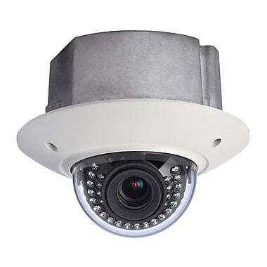 SeqCam – Caméra dôme de plafond réseau IR, anti-vandalisme pleine HD, 3 mégapixels, 5,5 po x 6,6 po x 6,6 po, blanc