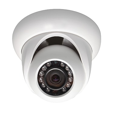 SeqCam – Petite caméra dôme réseau IR pleine HD 3 mégapixels, 3,4 po x 4,5 po x 4,5 po, blanc