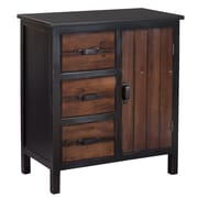 Gallerie Decor Adirondack 3 Drawer Accent Chest; Espresso