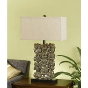 Cal Lighting Floral 29.75'' H Table Lamp with Rectangular Shade