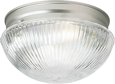 Forte Lighting 1 Light Flush Mount - Ribbed Glass; 7.5'' H x 4.75'' W WYF078276244352