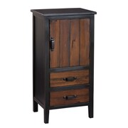 Gallerie Decor Adirondack 2 Drawer Accent Cabinet; Espresso