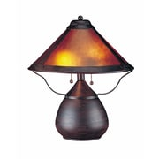 Cal Lighting 17'' H Table Lamp with Cone Shade