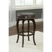 Hillsdale Wilmington 31.4'' Swivel Bar Stool with Cushion; Brown