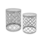 Three Hands 2 Piece End Table Set