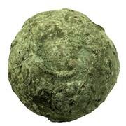 Woodland Imports Antique Stoneware Ball Decorative; Small