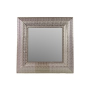 Woodland Imports Square Metal Mirror with Embossed Border