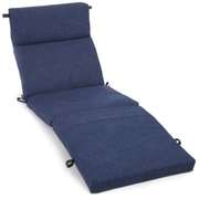 Blazing Needles Outdoor Chaise Lounge Cushion; Avacado