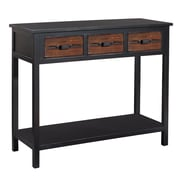 Gallerie Decor Adirondack Console Table; Espresso