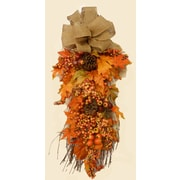 Floral Home Decor Fall Leaf and Berry Swag