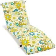 Blazing Needles All Weather UV Resistant Veranda Outdoor Chaise Lounge Cushion