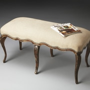 Butler Michelline Upholstered Bench; Brown