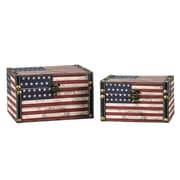 Household Essentials 2 Piece American Flag Design Box Set