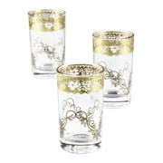 Casablanca Market Moroccan Fez Gold Glasses (Set of 6); Gold