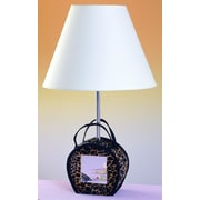Cal Lighting Mirrored 21'' H Table Lamp w/ Empire Shade