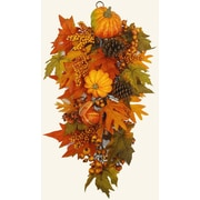Floral Home Decor Fall Harvest Door Swag
