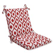 Pillow Perfect Shivali Outdoor Lounge Chair Cushion; Shivali Red / White