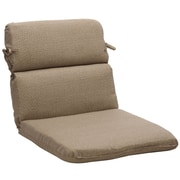 Pillow Perfect Outdoor Lounge Chair Cushion; Taupe Textured Solid