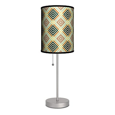 Lamp-In-A-Box Decor Art Diamonds and Lines 20'' Table Lamp