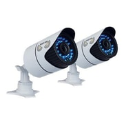 Night Owl CAM-2PK-930 Wired Bullet Camera with Day/Night, White, 2/Pack