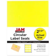 "JAM Paper 2.5"" Circle Labels, Yellow, 120/Pack (147628582)"