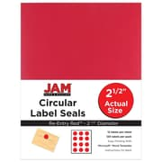 "JAM Paper 2.5"" Circle Labels, Red, 120/Pack (147628585)"