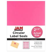 JAM Paper 2.5, Circle Labels, Pink, 120/Pack (55121605)