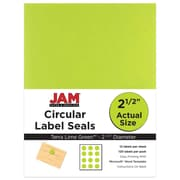 JAM Paper 2.5, Circle Labels, Green, 120/Pack (147628589)