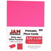 JAM Paper® Printable Place Cards, 1.75 x 3.75, Brite Hue Ultra Fuchsia Pink Placecards, 12/pack (225928555)