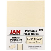 "JAM Paper Printable Place Cards, Natural, Parchment, 3.75"" x 1.75"", 12/Pack (225928563)"