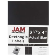 "JAM Paper 3.33"" x 4"" Address Labels, Black, 120/Pack (55121605)"