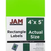"JAM Paper 4: x 5"" Address Labels, Neon Green, 120/Pack (55121605)"