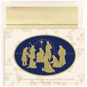 "Gold Nativity Christmas Christmas Card Set, 7.9"" x 5.6"", 16/Pack (526860700)"