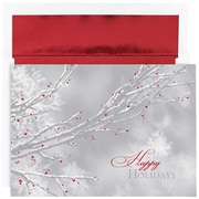 "JAM Paper, Red Holiday Berries Christmas Card Set, 7.9"" x 5.6"", 16/Pack (526861500)"