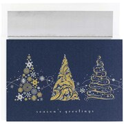 JAM Paper Tree Meledy Christmas Christmas Card Set, 7.9 x 5.6, 16/Pack (526863000)