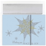 "JAM Paper Snowflake Christmas Card Set, 7.9"" x 5.6"", 16/Pack (526863100)"