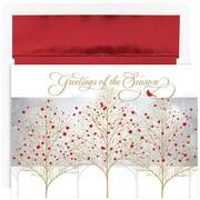 "JAM Paper Cardinal Treeline Christmas Christmas Card Set, 7.9"" x 5.6"", 16/Pack (526863600)"