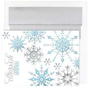 "JAM Paper Snowflakes Christmas Card Set, 7.9"" x 5.6"", 18/Pack (526865200)"
