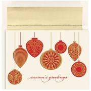 "JAM Paper Golden Ornaments Christmas Card Set, 7.9"" x 5.6"", 16/Pack (526865800)"