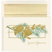 "Classic Pinecones Christmas Christmas Card Set, 7.9"" x 5.6"", 16/Pack (526865900)"
