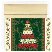"Floral Tree Christmas Christmas Card Set, 7.9"" x 5.6"", 18/Pack (526867500)"