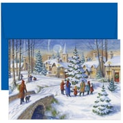 Christmas Village Christmas Christmas Card Set , 7.9 x 5.6, 18/Pack (526867700)