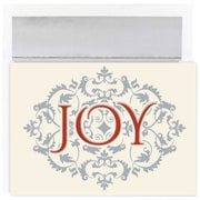 "JAM Paper ""Joy"" Christmas Card Set, 7.9"" x 5.6"", 16/Pack (526868200)"