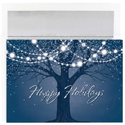 "JAM Paper Shining Lights Christmas Card Set, 7.9"" x 5.6"", 18/Pack (526868700)"