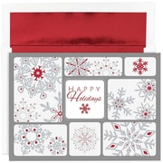 "JAM Paper Snowflake Collage Christmas Christmas Card Set, 7.9"" x 5.6"", 16/Pack (526868900)"