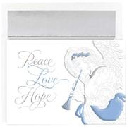 "JAM Paper Trumpeting Angel Christmas Card Set, 7.9"" x 5.6"", 16/Pack (526871900)"