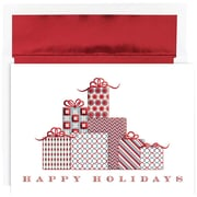 JAM Paper Patterned Gifts Christmas Christmas Card Set, 7.9 x 5.6, 18/Pack (526872200)